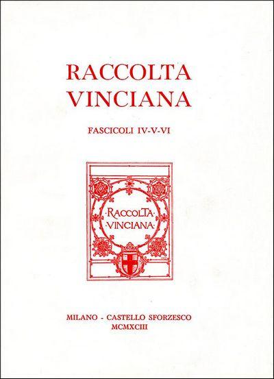 Raccolta vinciana IV-V-VI