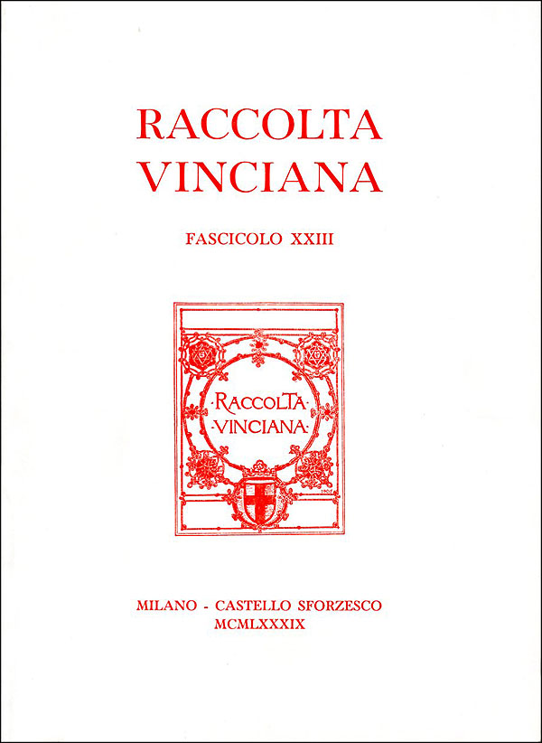 Raccolta vinciana XXIII (1989)
