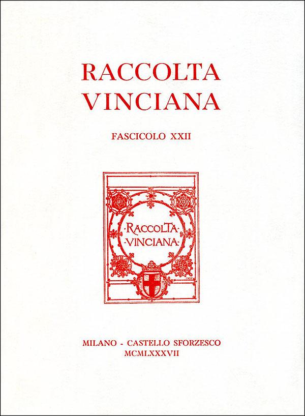 Raccolta vinciana XXII (1987)