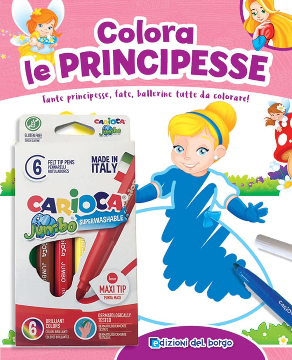 Colora le Principesse + pennarelli