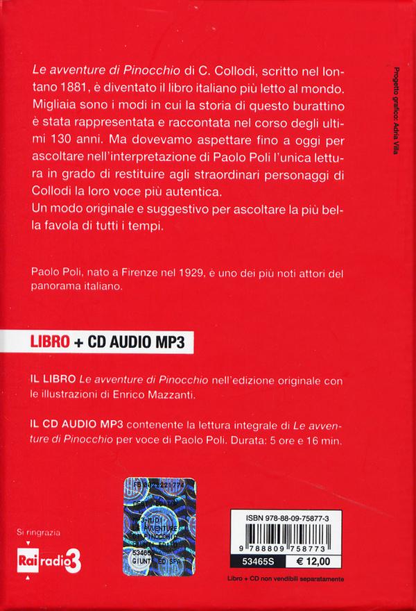 Le avventure di Pinocchio letto da Paolo Poli + CD