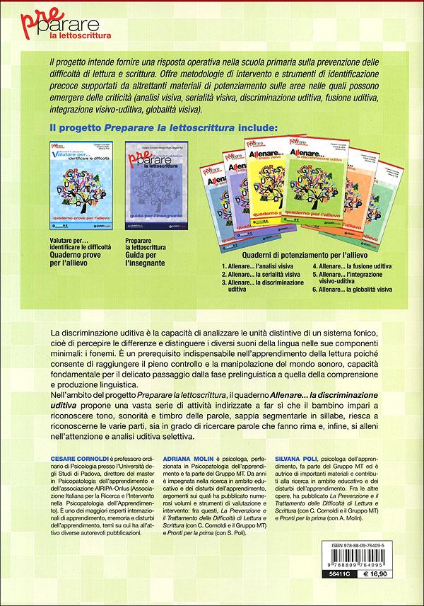 Preparare la lettoscrittura - Allenare... la discriminazione uditiva + CD