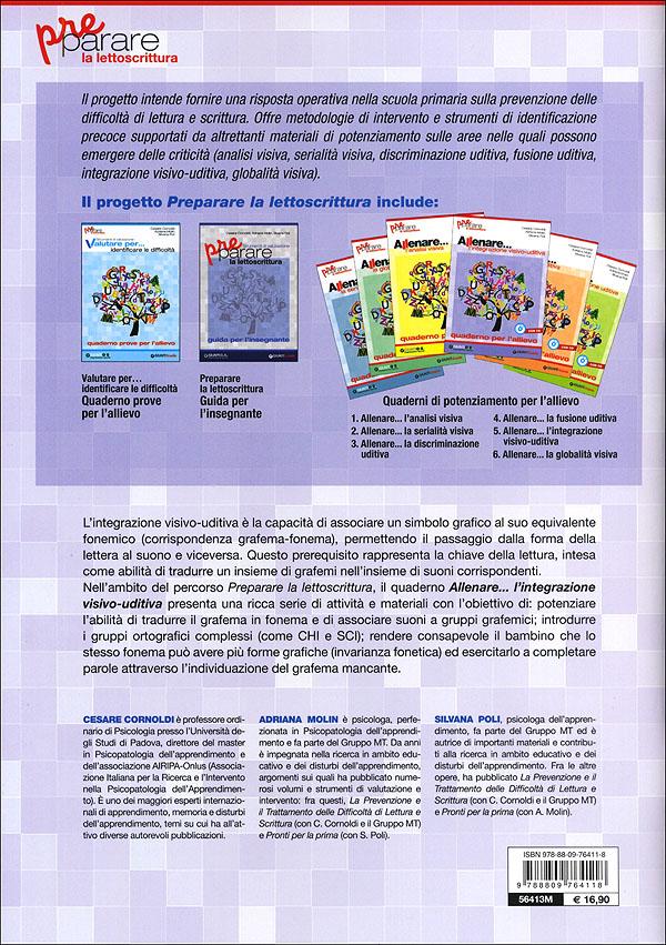 Preparare la lettoscrittura - Allenare... l'integrazione visivo-uditiva + CD