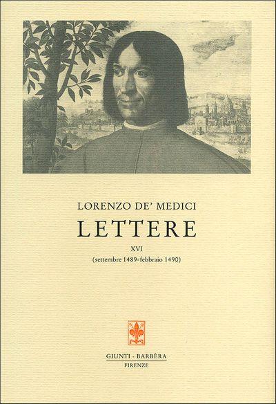 Lettere XVI (settembre 1489-febbraio 1490)