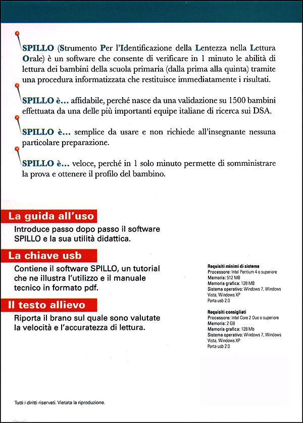 SPILLO: Kit Scuola 500 somministrazioni