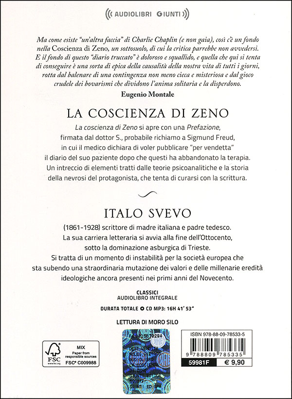 La coscienza di Zeno + CD audio mp3