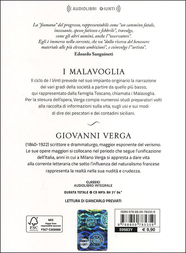 I Malavoglia + CD audio mp3