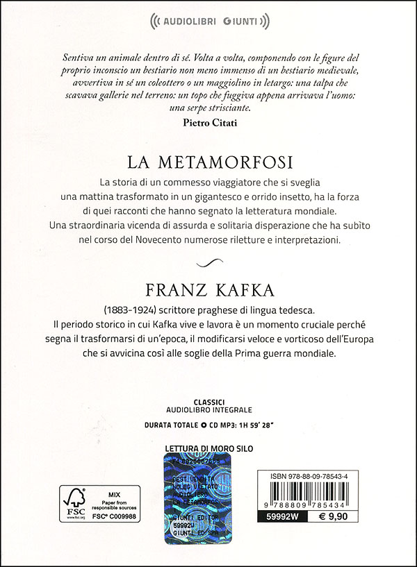 La metamorfosi + CD audio mp3