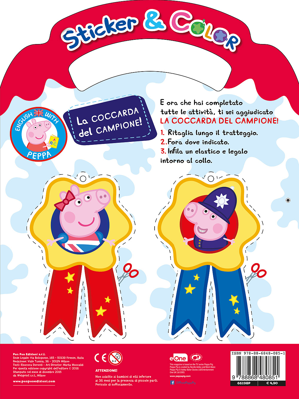Sticker & Color Impara l'inglese con Peppa Pig - I numeri I colori