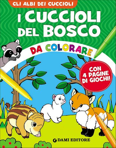 I cuccioli del Bosco da colorare