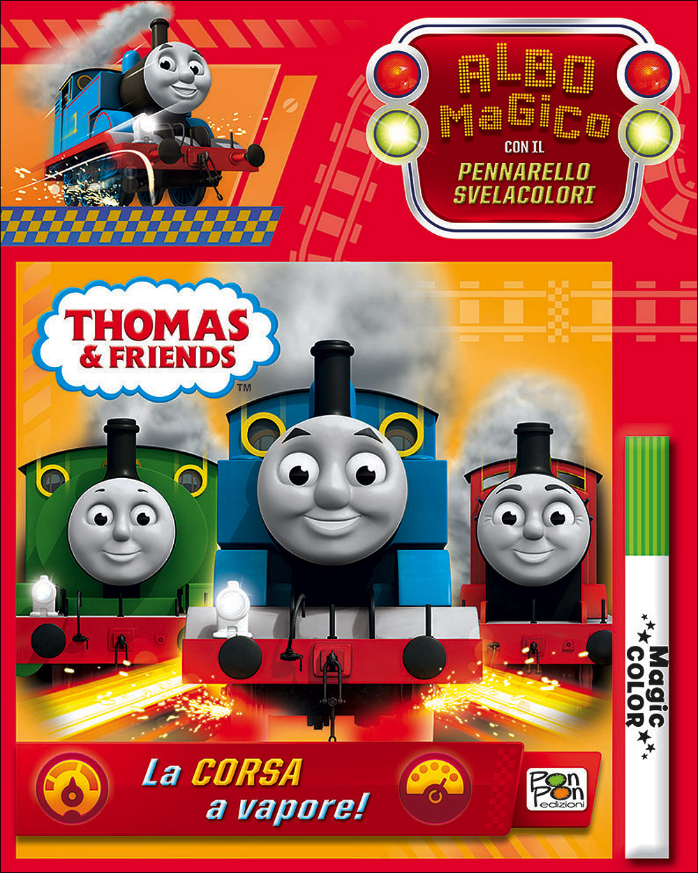 Albo Magico Trenino Thomas - La corsa a vapore!