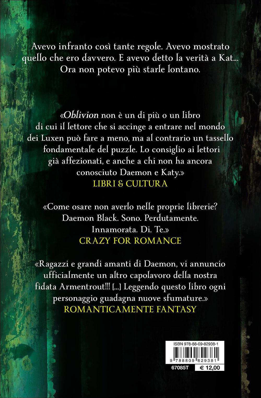 Oblivion II. Onyx attraverso gli occhi di Daemon