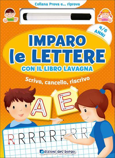 Imparo le lettere con il libro lavagna - 4/6 anni
