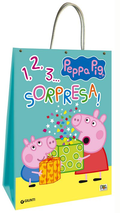 Shopper bag di Peppa Pig - Peppa 1, 2, 3... Sorpresa!