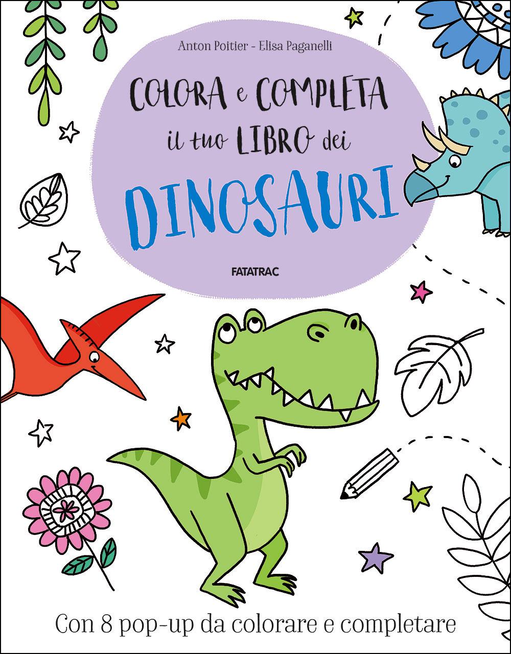Colora e completa il tuo libro dei Dinosauri