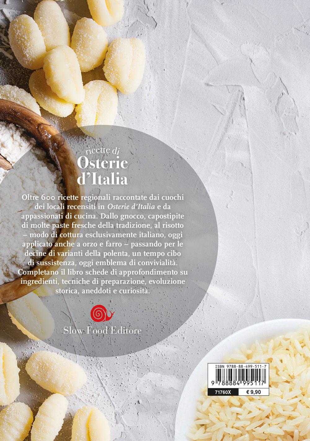 Ricette di osterie d'Italia. Riso, polenta, gnocchi
