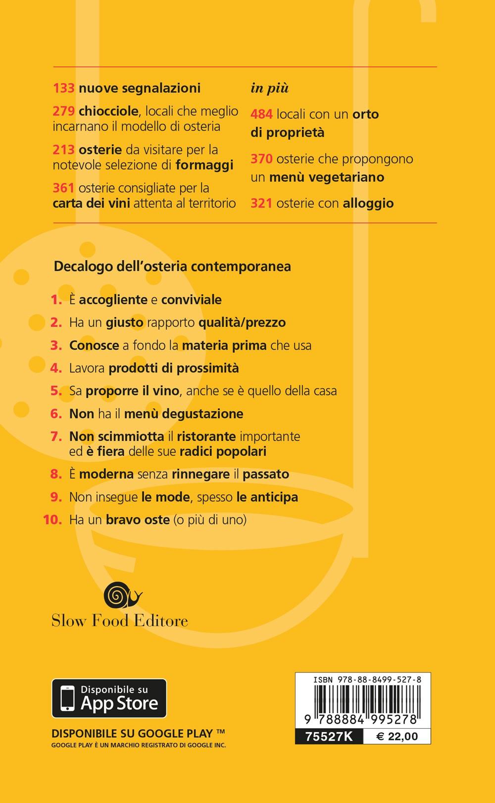 Osterie d'Italia - guida 2019
