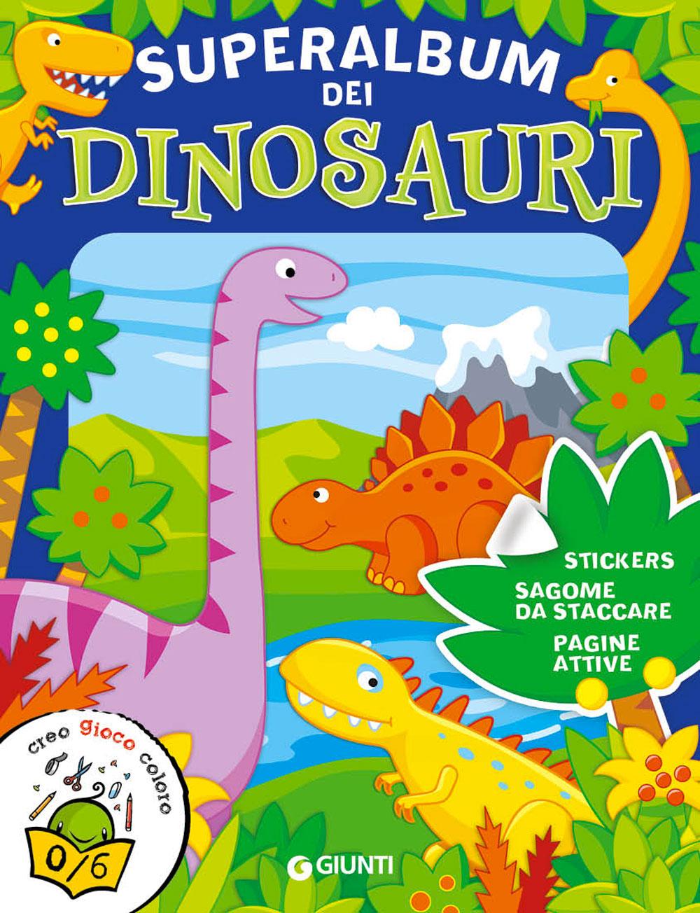 Superalbum dei Dinosauri (con stickers e sagome)