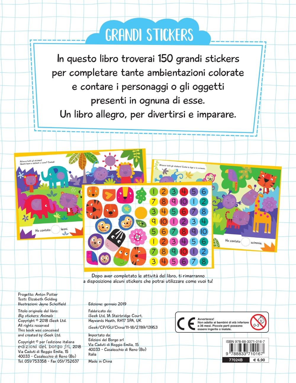 Grandi Stickers - Animali