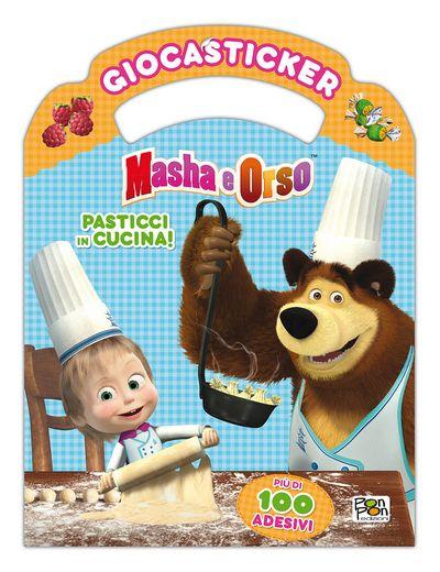Giocasticker Masha e Orso - Pasticci in cucina