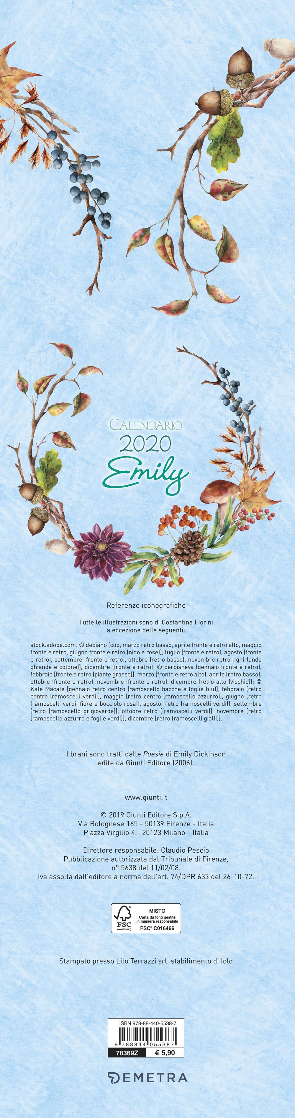 Calendario Emily stretto 2020
