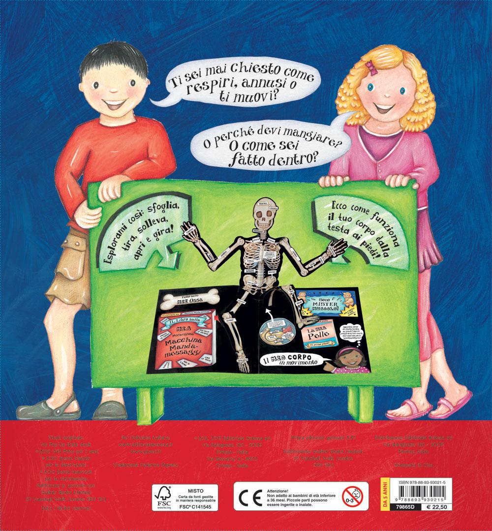 Grande libro pop-up del corpo umano