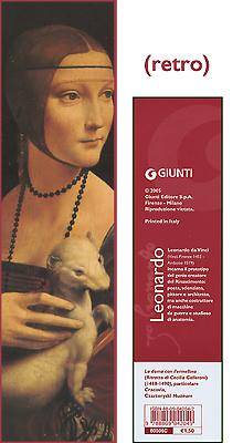 Segnalibro La dama con l'ermellino - Leonardo da Vinci