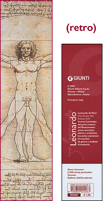 Segnalibro Uomo Vitruviano - Leonardo da Vinci