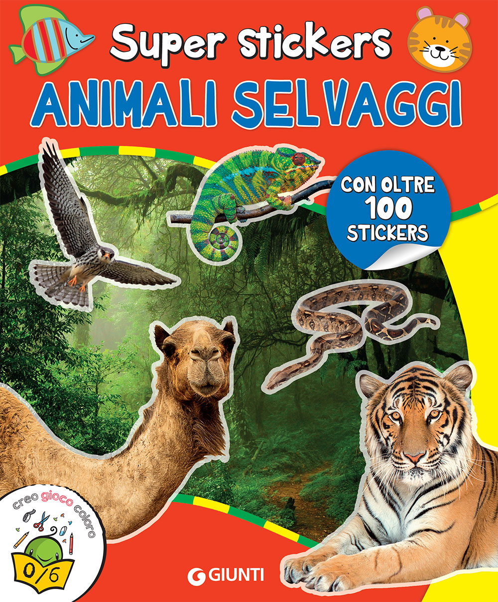 Super stickers. Animali Selvaggi