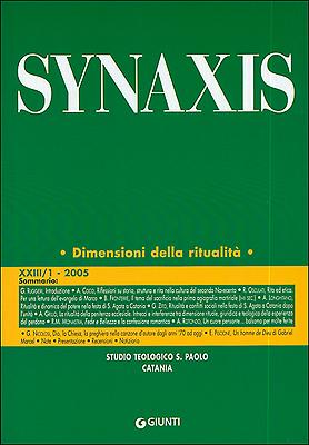 Quaderni di Synaxis XXIII/1 - 2005 - Quadrimestrale dello Studio Teologico S. Paolo di Catania