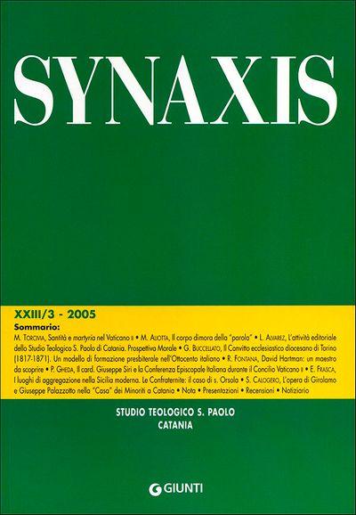 Quaderni di Synaxis XXIII/3 - 2005 - Quadrimestrale dello Studio Teologico S. Paolo di Catania