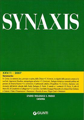 Quaderni di Synaxis XXV/1 - 2007 - Quadrimestrale dello Studio Teologico S. Paolo di Catania