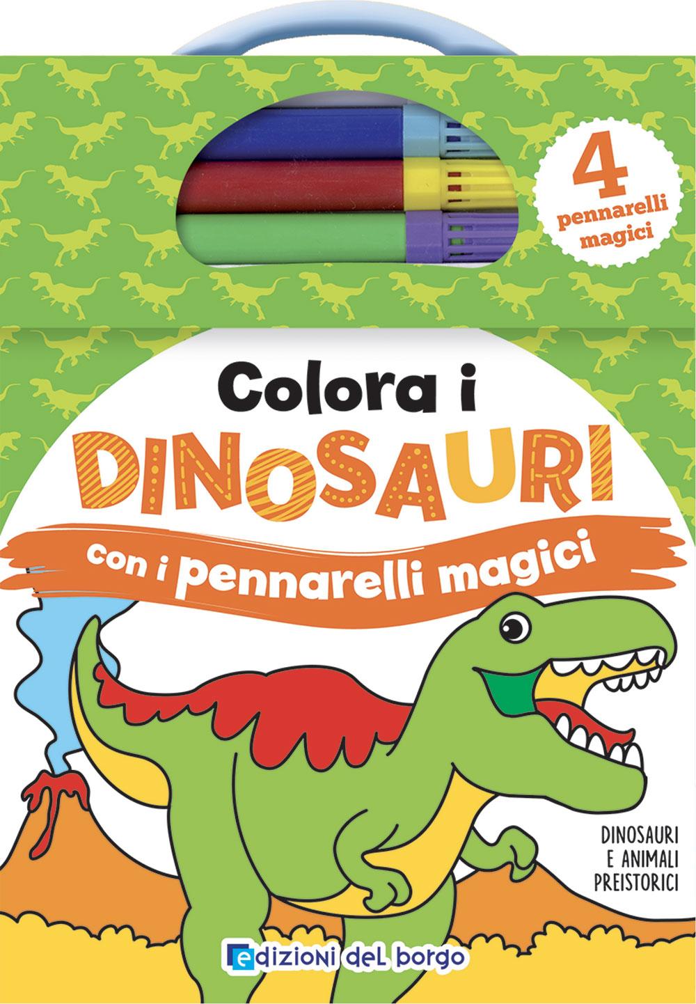 Colora i dinosauri con i pennarelli magici