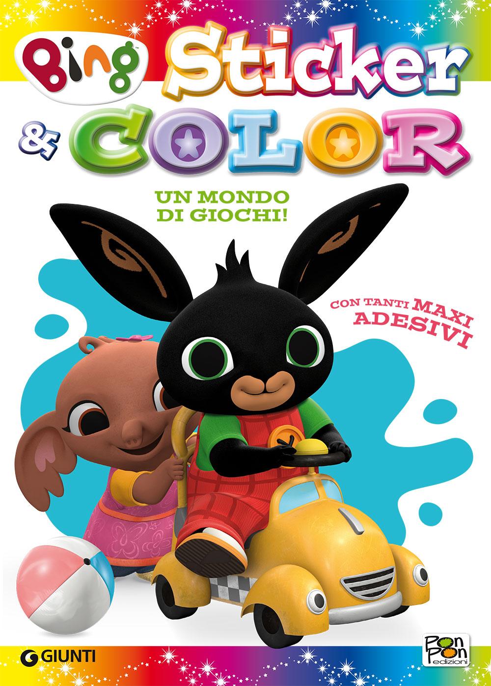 Sticker&Color Bing - Un mondo di giochi