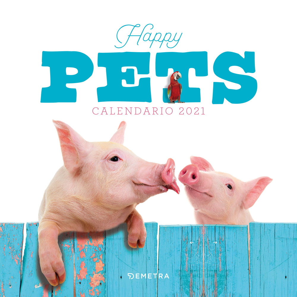 Calendario Happy pets 2021, da parete, 30x30 cm