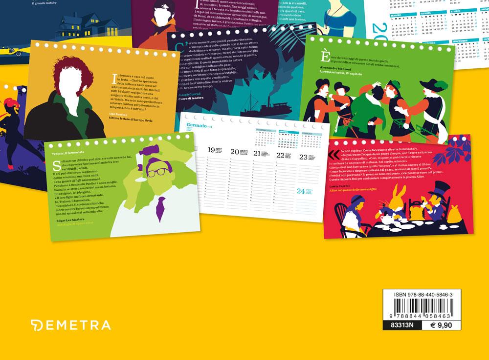 Calendario I love books 2021, da tavolo, 21x14 cm