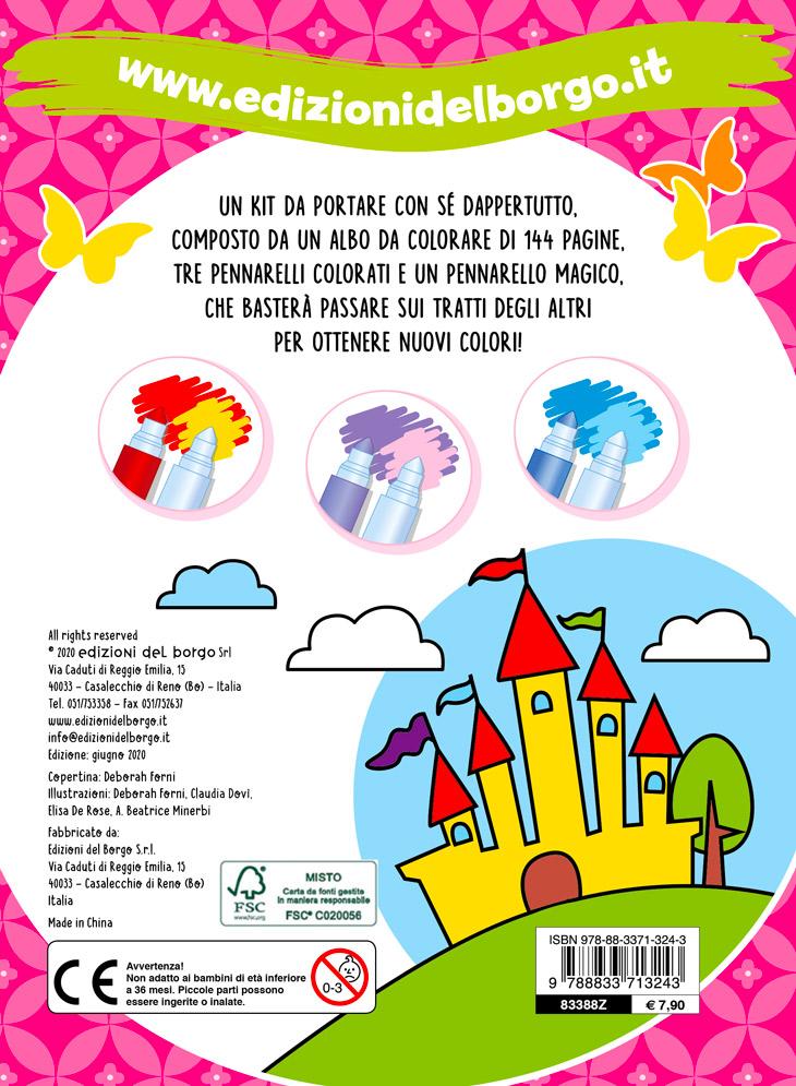 Le bambine colorano con i pennarelli magici