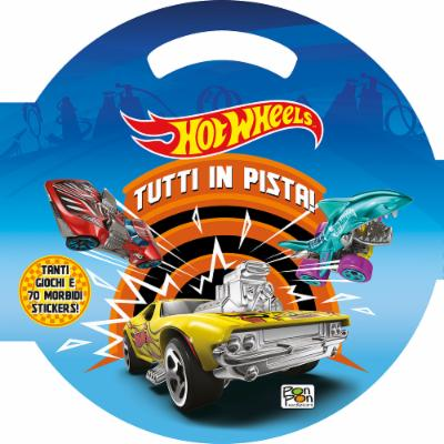Puffy Sticker Hot Wheels Tutti in Pista!