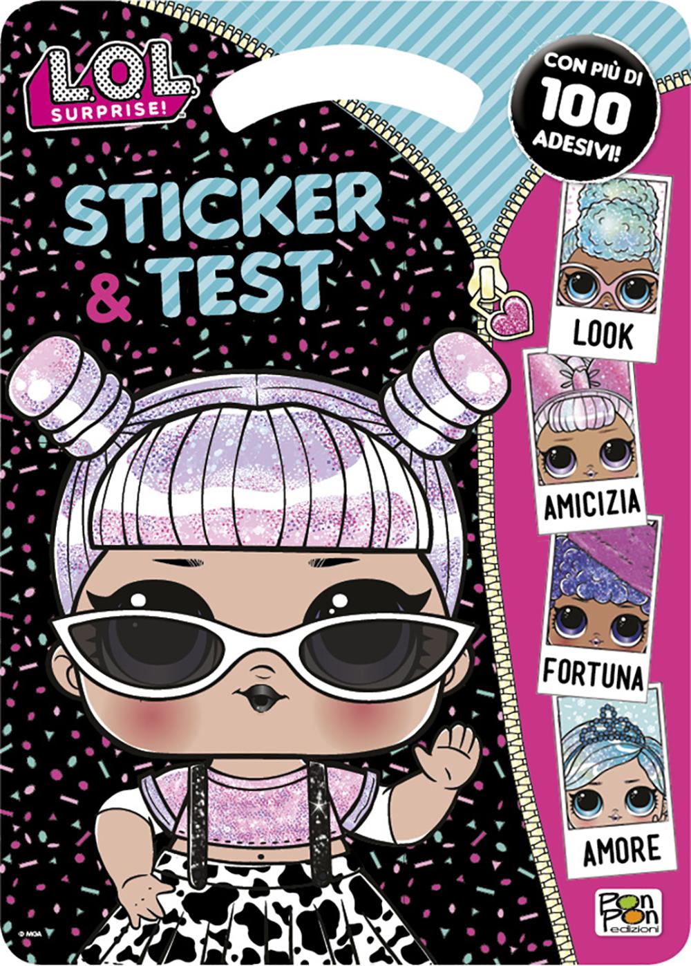 Activity Book Lol Surprise Sticker & Test