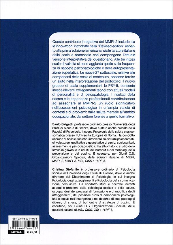 MMPI - 2: aggiornamento all'adattamento italiano