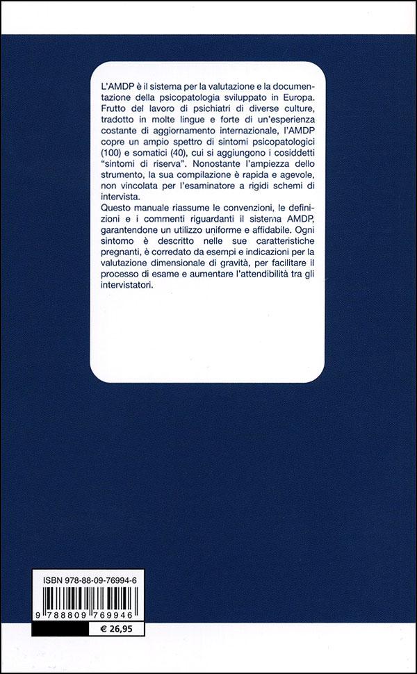 AMDP-8 - Manuale per la metodologia e la documentazione della diagnosi in psichiatria