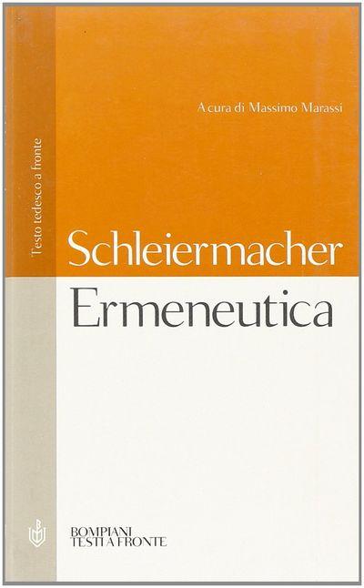 Ermeneutica. Testo tedesco a fronte
