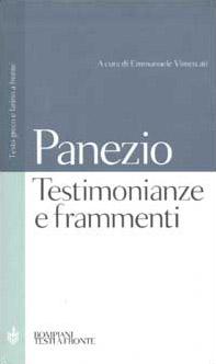 Testimonianze e frammenti. Testo greco e latino a fronte
