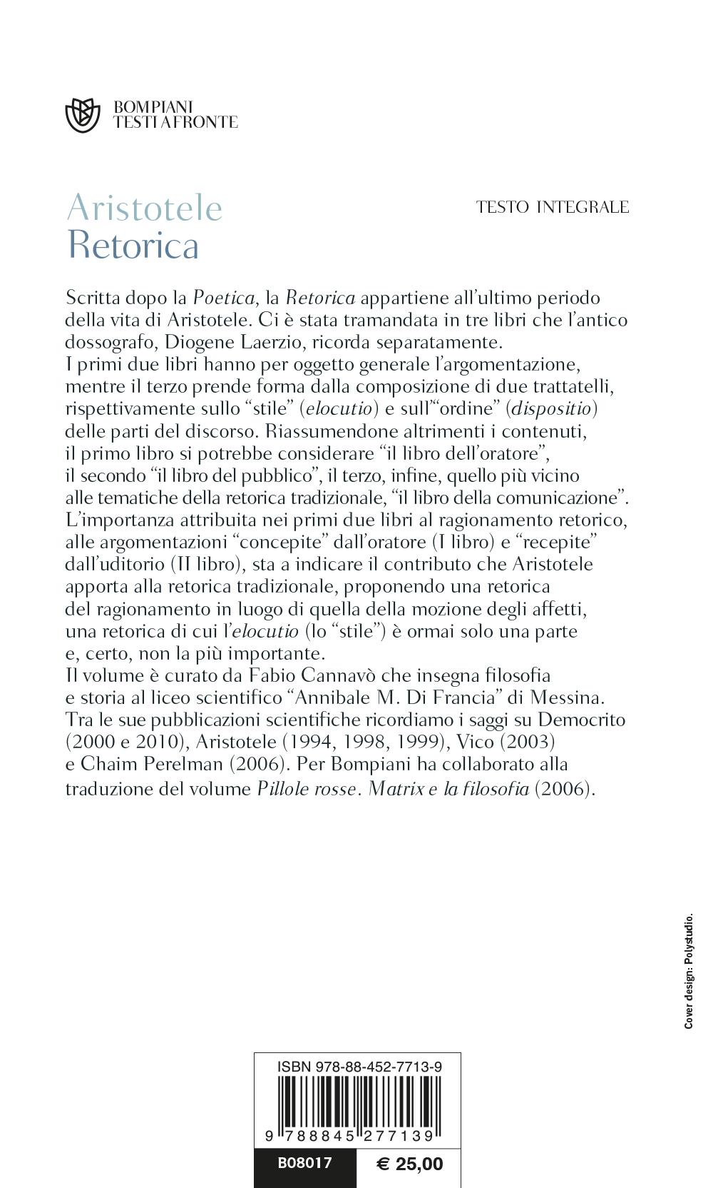 Retorica. Testo greco a fronte