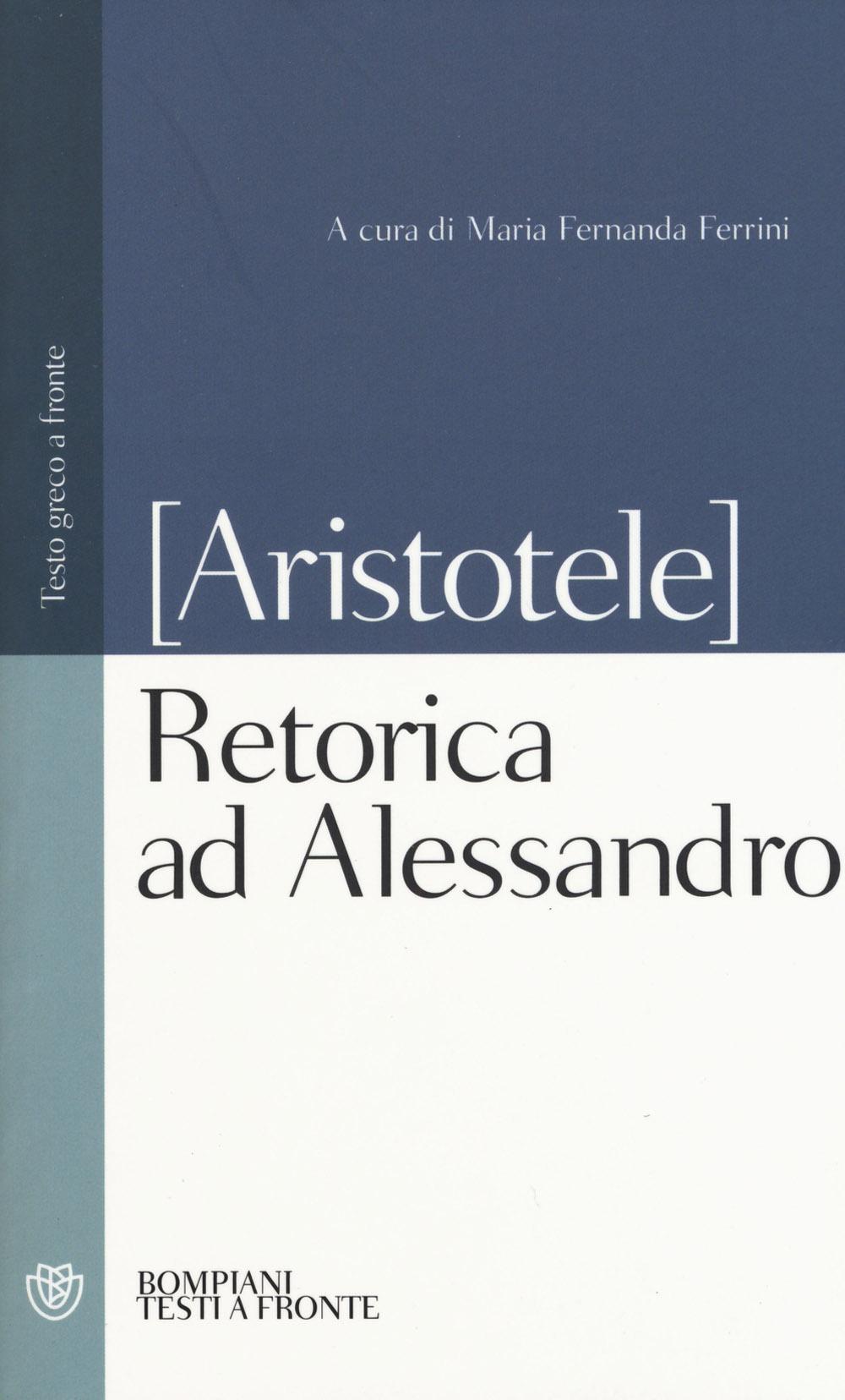Retorica ad Alessandro. Testo greco a fronte