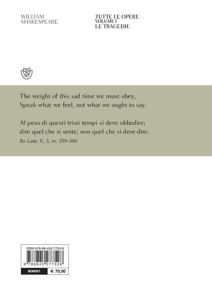Tutte le opere. Vol. 1: Le tragedie