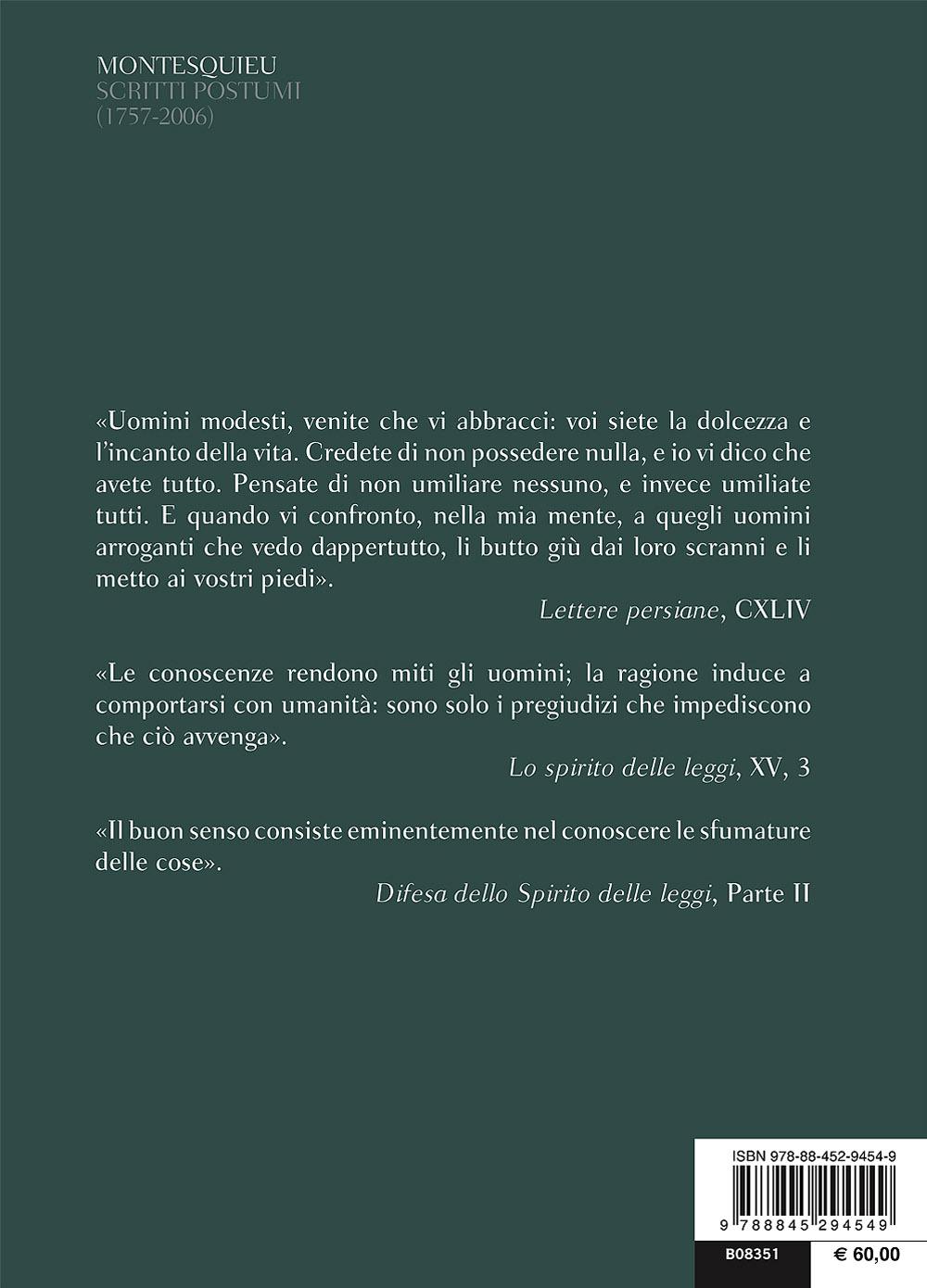 Scritti postumi (1757-2006)