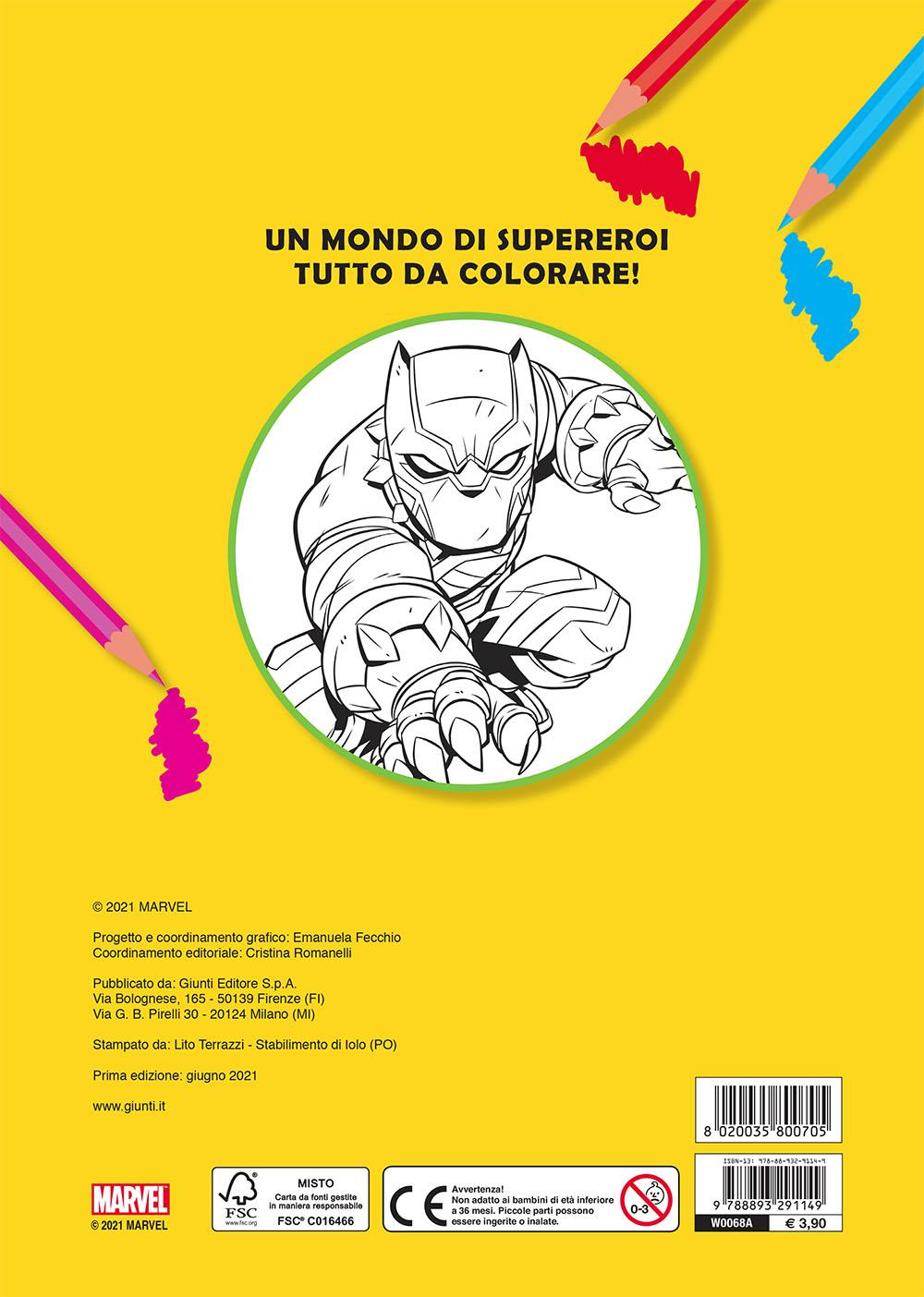 Primo album da colorare Marvel Super Hero Adventures
