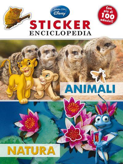 Animali, natura. Sticker enciclopedia