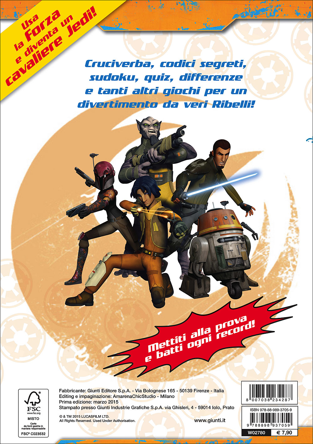 Star Wars Rebels - Il libro dei giochi Stellari